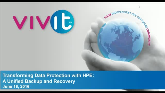 Transforming Data Protection with HPE: A Unified Backup and Recovery