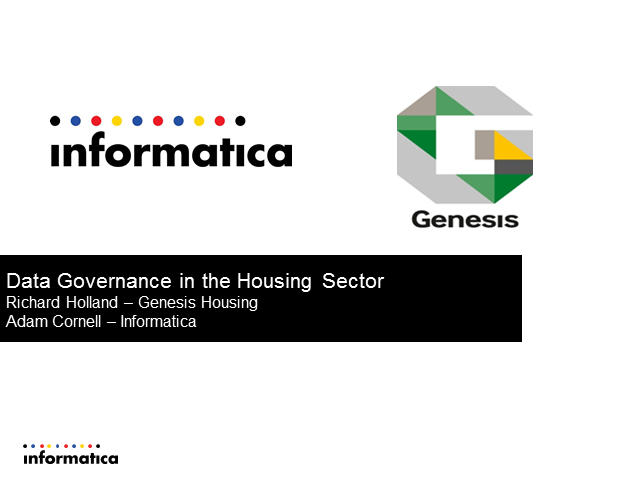 Data Governance in the Housing Sector - Genesis case study