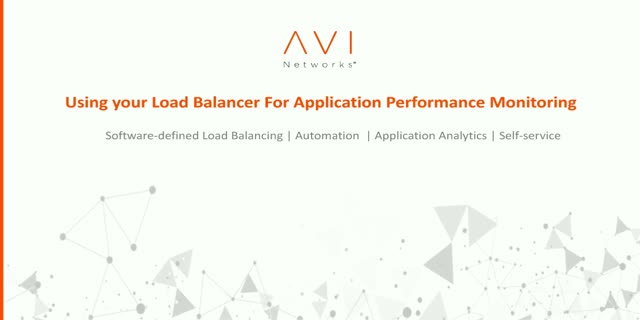 Using your Load Balancer for Application Performance Monitoring