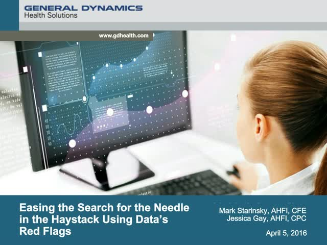 Easing the Search for the Needle in the Haystack Using Data's Red Flags