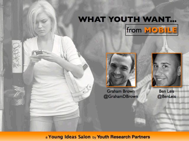 What Do Youth Want from Mobile?