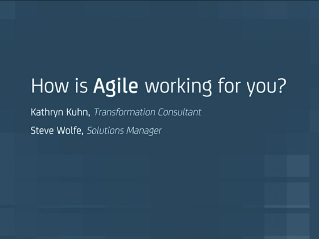 How is Agile Working for You?
