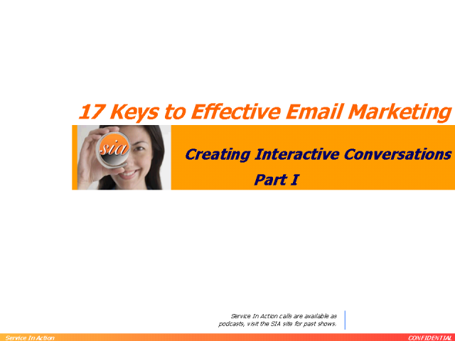 17 Keys to Effective Email Marketing - Part 1