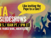 DITA and Slideshows: Like Inviting the Pope to a Rave?