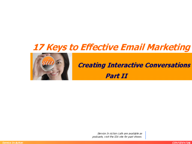 17 Keys to Effective Email Marketing - Part 2