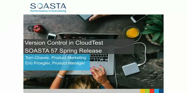 Version Control in SOASTA 57 Spring Release
