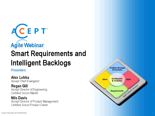Agile Management: Smart requirements and intelligent backlogs