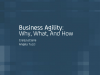 Business Agility - Why, What, and How