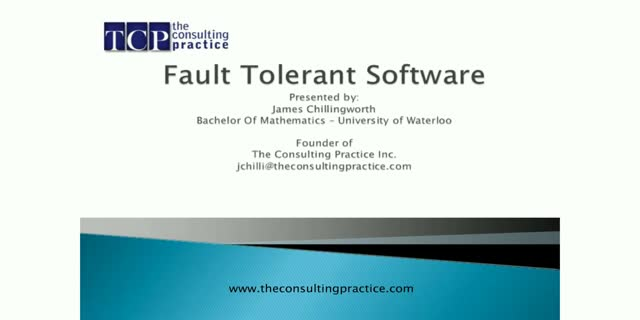 Protect Your Applications and Data with Fault Tolerant Software