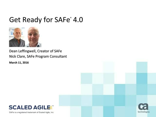 EMEA: Get Ready for SAFe 4.0