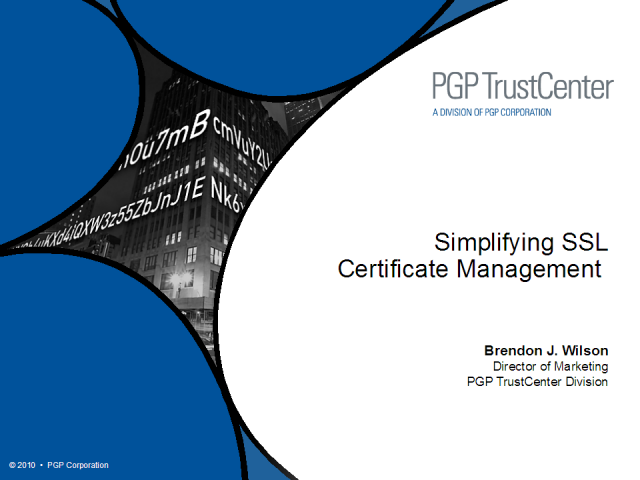 Simplifying SSL Certificate Management