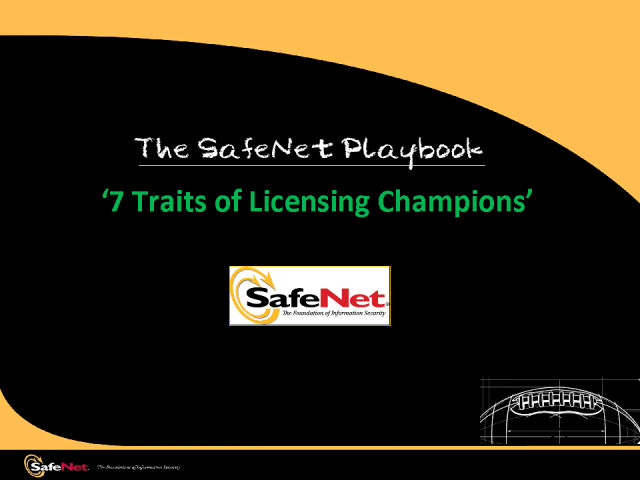 The SafeNet Playbook - 7 Traits of Licensing Champions