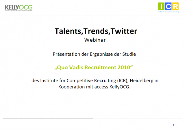 Germany - Recruitment Trends 2010 (in German)