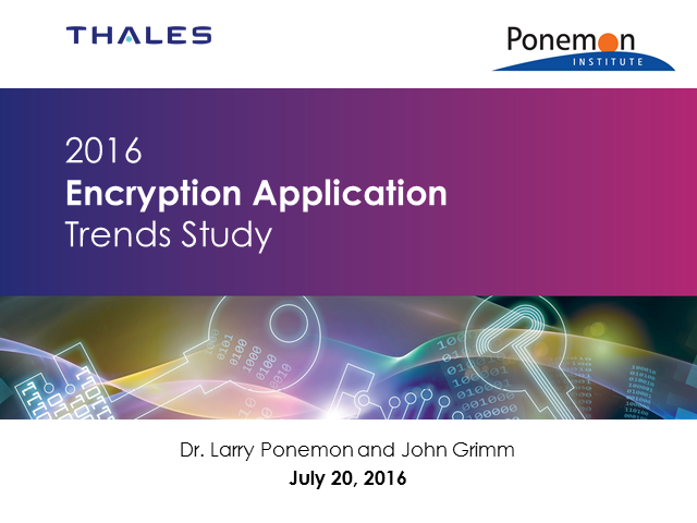 2016 Encryption Application Trends