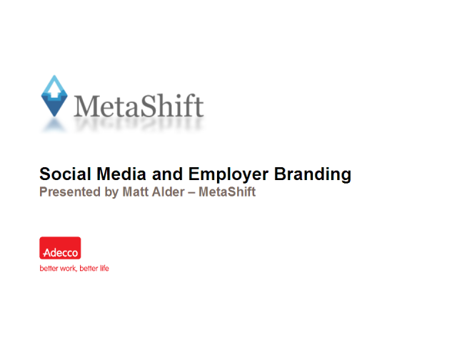 Social Media and Employer Branding