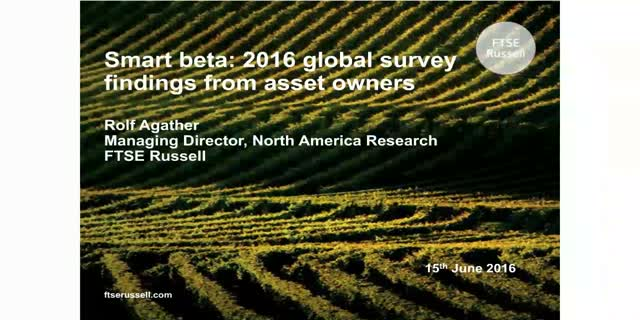 2016 Smart Beta Survey: Results & Commentary