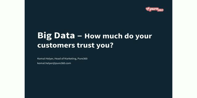 Big Data: How much do your customers really trust you?