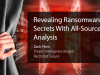 Revealing Ransomware Secrets With All-Source Analysis