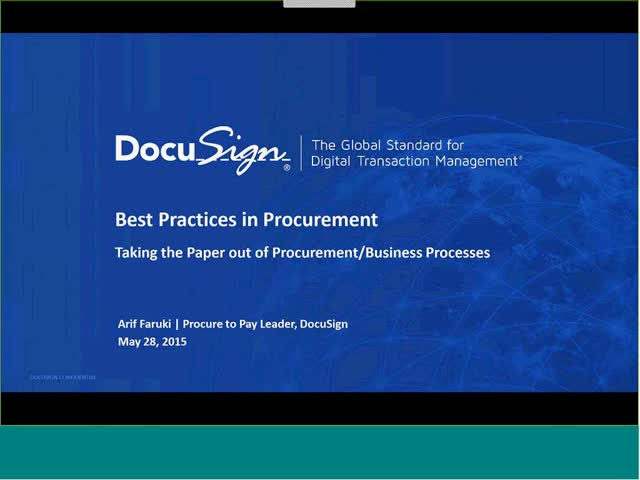Best Practices- DocuSign for Procurement Teams