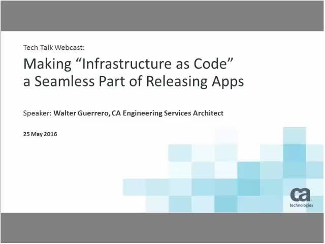 "Tech Talk: Making ""Infrastructure as Code"" a Seamless Part of Releasing Apps"