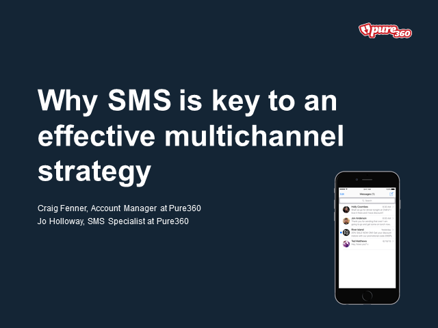 Why SMS is key to an effective multichannel strategy