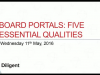 Board Portals: Five Essential Qualities