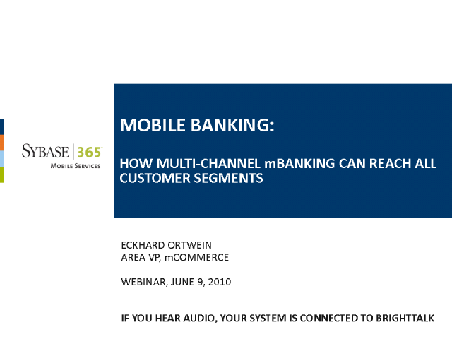 Mobile Banking: How Multi-Channel mBanking Can Reach Customers