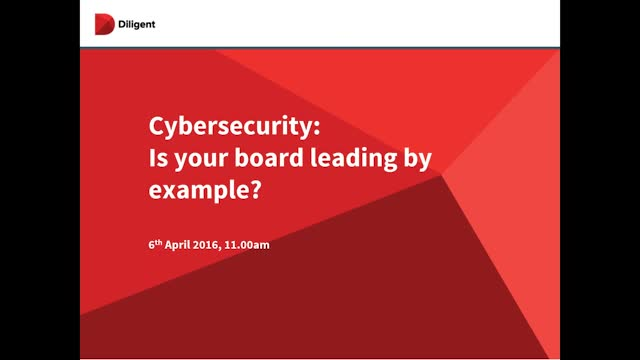 Cybersecurity- Is your Board Leading by Example?