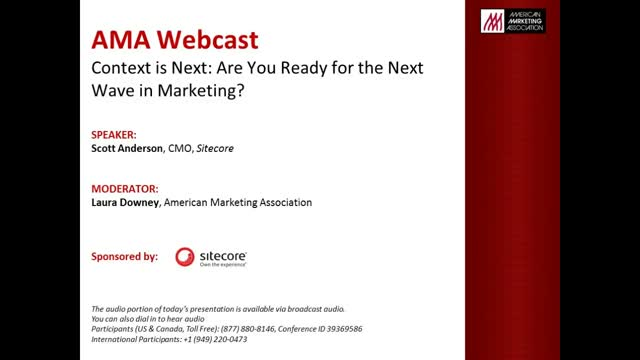 Context is next:  Are you ready for the next wave in marketing?
