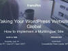 Taking Your WordPress Website Global