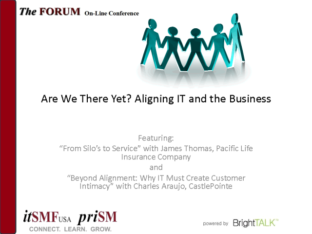 itSMF USA On-Line Conference: Are We There Yet?