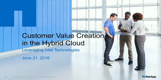 NetApp Data Fabric – Accelerating Customer Success in Hybrid Cloud