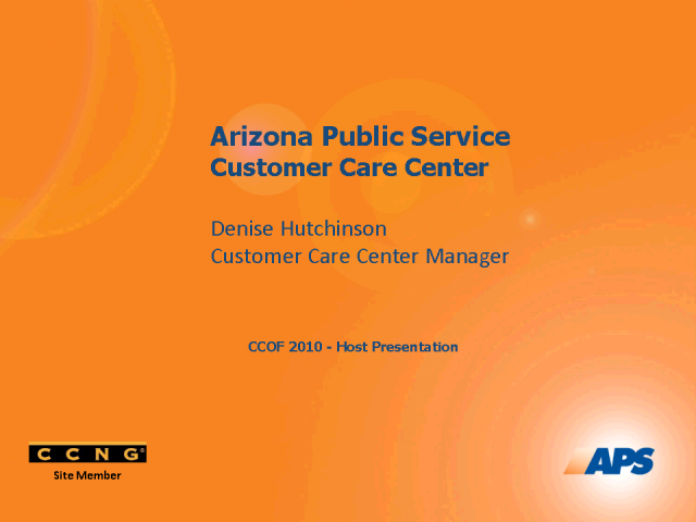 Improving Customer Care & Employee Satisfaction at APS