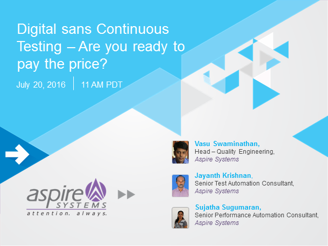Digital sans Continuous Testing – Are you ready to pay the price?
