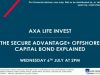 AXA Life Invest's Secure Advantage+ Offshore Capital Bond Explained
