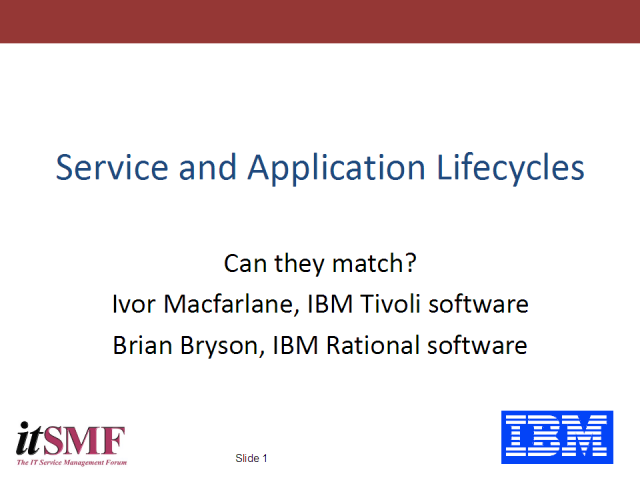 Development Lifecycle, Service Lifecycle - Do yours mesh or miss?