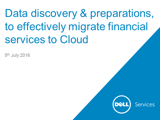 Data discovery& preparations, to effectively migrate financial services to Cloud