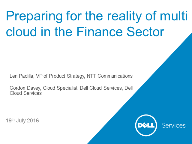 Preparing for the reality of Multi-Cloud in the Finance Sector