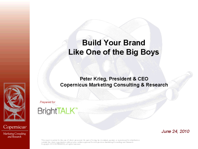 Build Your Brand Like One of the Big Boys