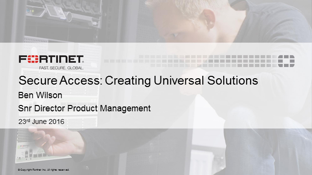 Secure Unified Access Layer – Creating Universal Solutions