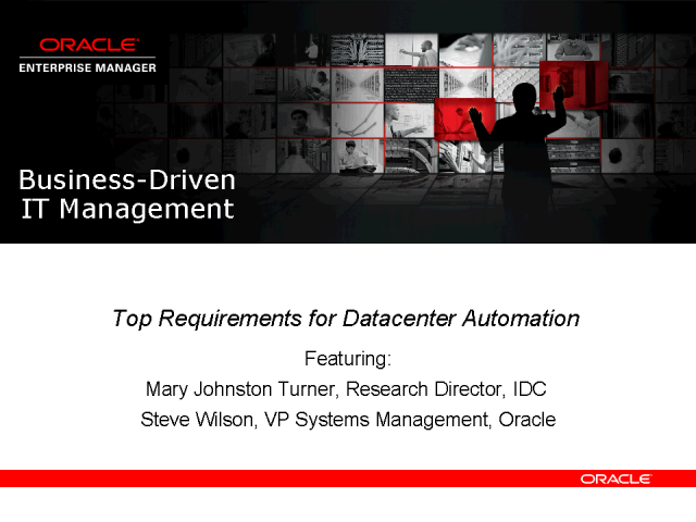 Top Requirements for Datacenter Automation