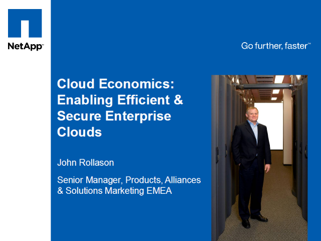 Cloud Economics: Enabling Efficient & Secure Cloud Infrastructure