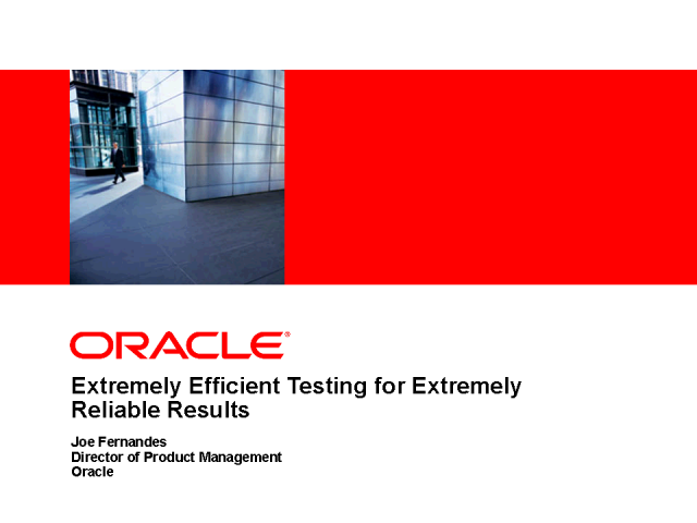 Business Driven Application Testing with Enterprise Manager 11g