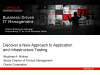 Discover a New Approach to Application and Infrastructure Testing