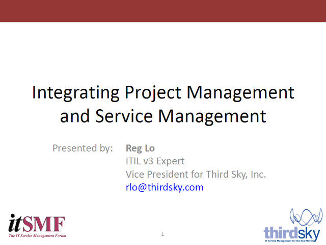 Integrating Project Management and Service Management