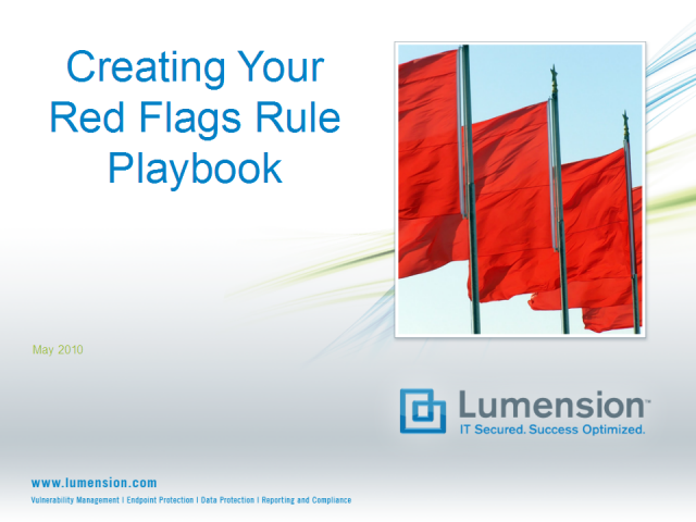 Creating Your Red Flags Rule Playbook