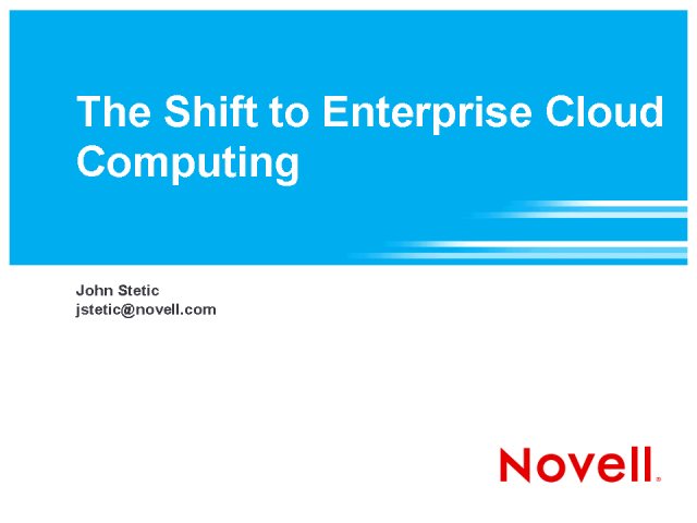 The Shift to Enterprise Cloud Computing