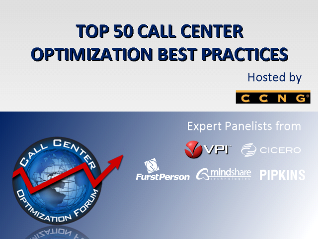 Top 50 Call Center Optimization Best Practices