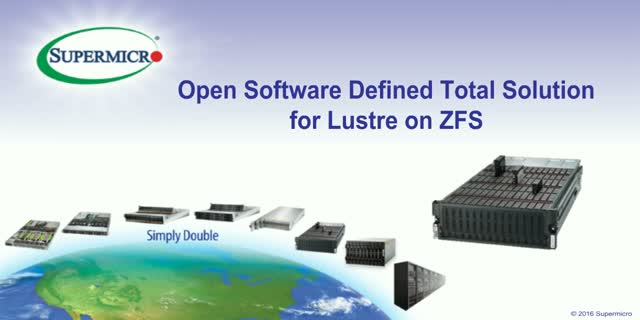 Open Software Defined Total Solution for Lustre on ZFS