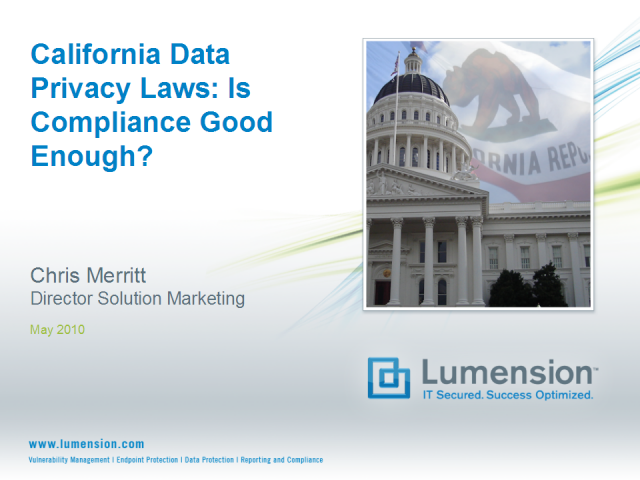 California Data Privacy Laws: Is Compliance Good Enough?